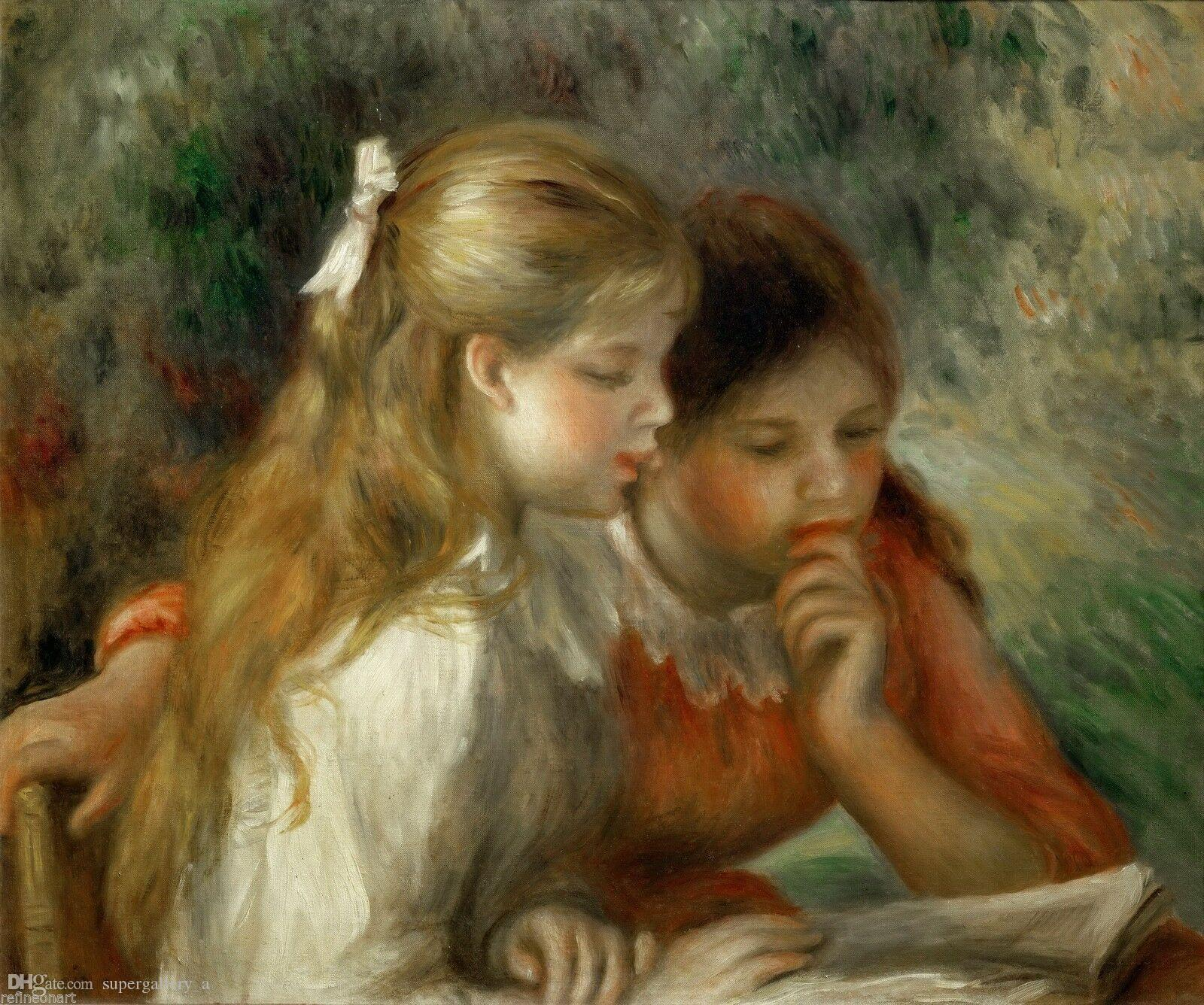 Auguste Renoir The Reading Home Wall Art Decor High quality Handpainted &HD Print Oil Painting On Canvas Wall Art Canvas Pictures 190903