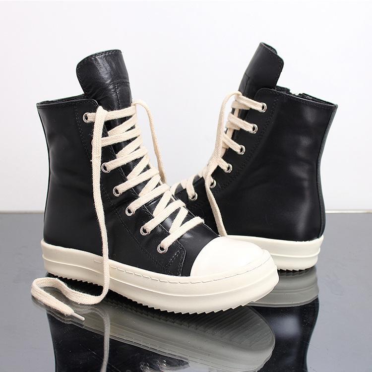 Hot Sale-sual Rock-Schuhe Wachs Leder Canvas Ankle Boots Klassische Schnürschuhe hohe Spitzenschuhe Männer Turnschuhe