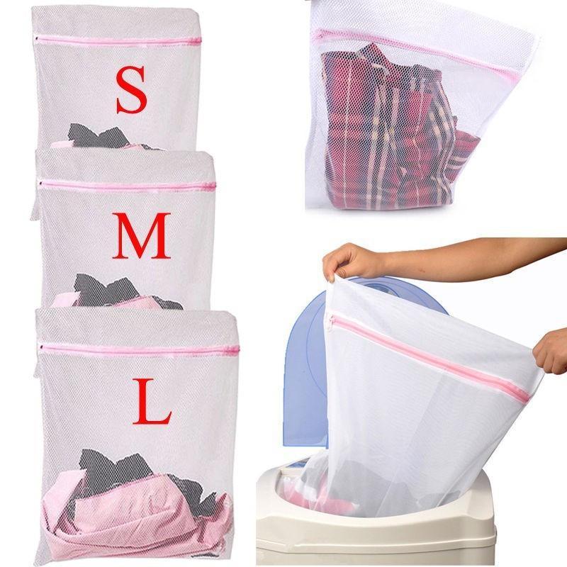 세탁 세척 가방 메쉬 지퍼가 달린 메쉬 세탁 세척 가방 메쉬 그물 지퍼가 달린 그물 저장 S / M / L 사이즈