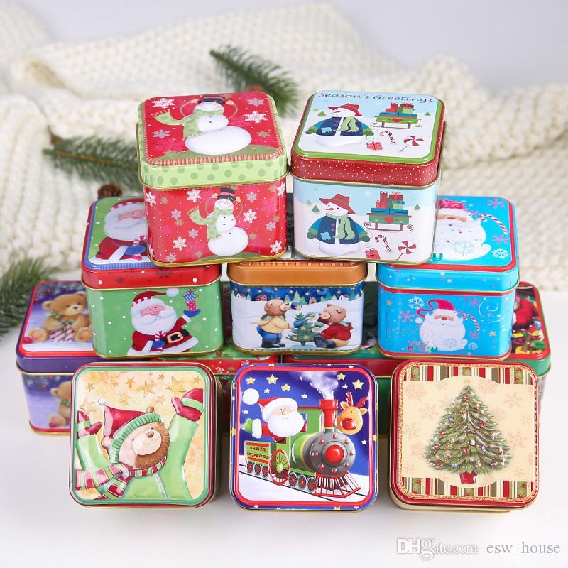 Scatola Latta Biscotti Natale.Scatola Latta Confezione Regalo Biscotti Caramelle Babbo Natale Box Classico Vdata My