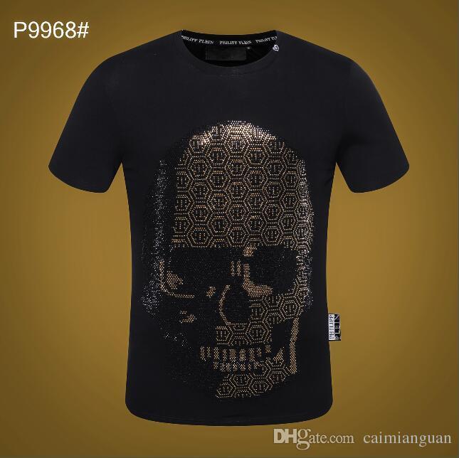 2019 hommes col rond manches courtes rayé T-shirt pour hommes nouvelle mode casual designer de marque animal impression 3D veste en coton M-XXXL GG1011