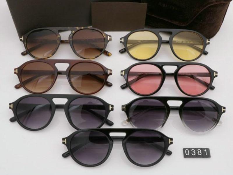 2020 nuovi occhiali da sole rotondi di moda per uomo donna Occhiali Tom Designer Piazza Occhiali da sole UV400 guado Lenti Trend con la scatola occhiali da sole TF0381