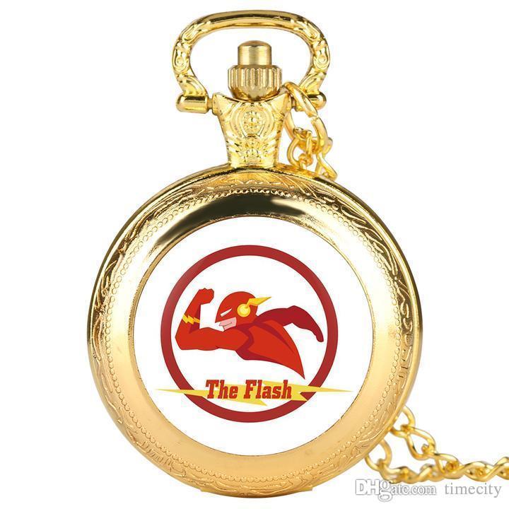 남자를위한 독창성 골드 포켓 시계, 독특한 수퍼맨 패턴 소년, 패션 쿼츠 시계 포켓을위한 합금 포켓 시계 Teenag를위한 최고의 선물