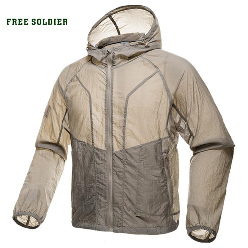 FREE SOLDIER outdoor sports camping tactical military men's skin coat uv protection men shirt sun protection clothes for camping T190919