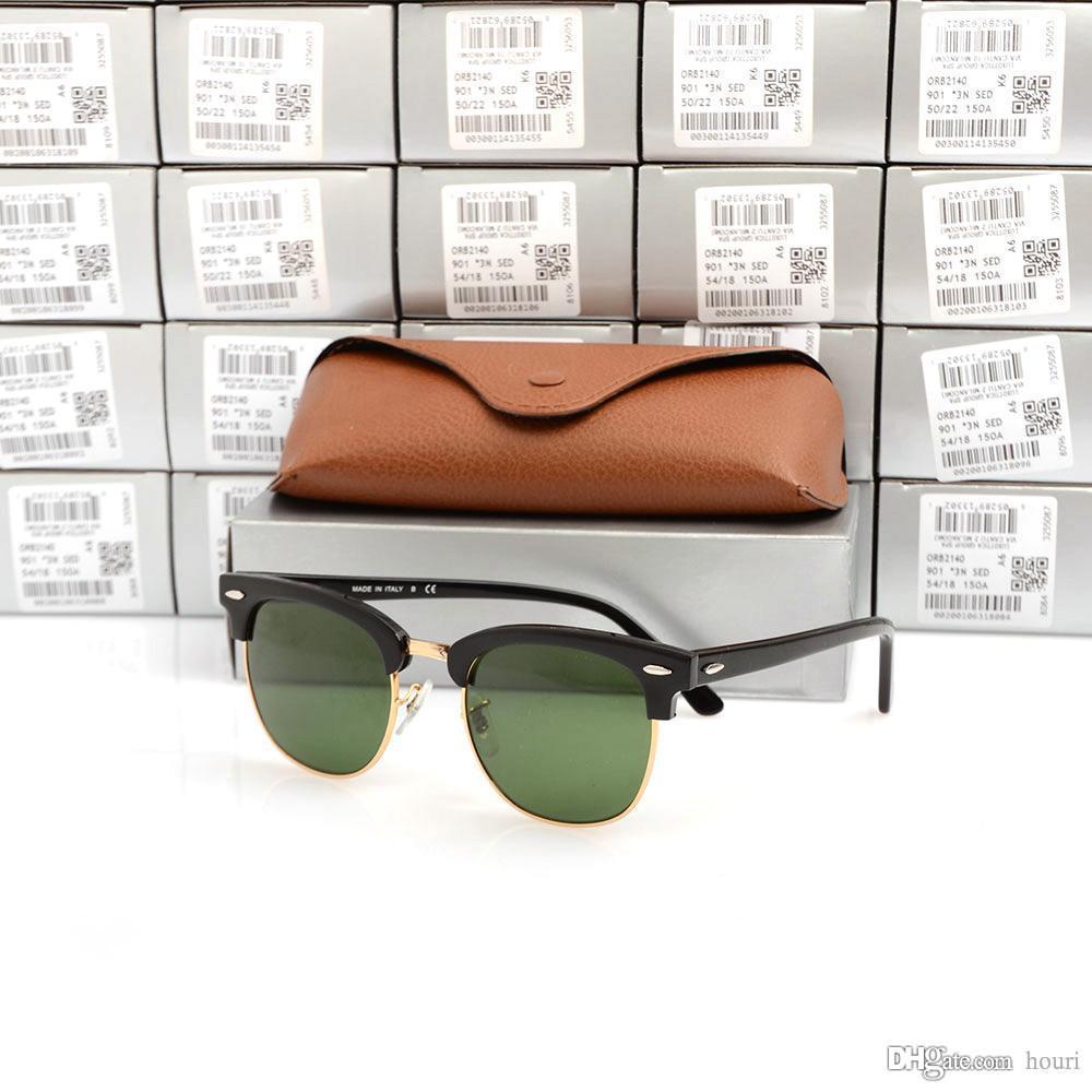 High Quanlity Club Brille Metallscharnier Plank Brille unisex Sonnenbrillen Herren schwarze Sonnenbrille Womens Sonnenbrille mit Original Fällen und Box