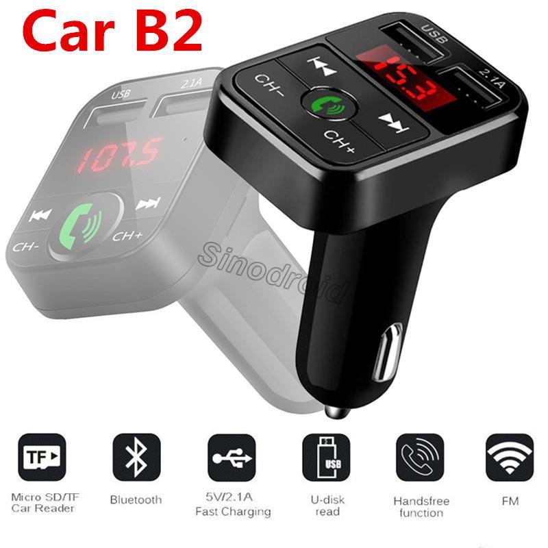 Новый B2 Беспроводной Bluetooth многофункциональный FM-передатчик USB автомобильное зарядное устройство Мини MP3-плеер автомобильный комплект держатель TF карты громкой связи гарнитура модулятор