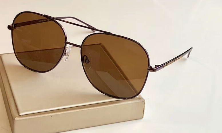 0378 con brown cuadrado romántico lentes antiguas para hombre caja marrón para gafas gafas de sol gafas de sol nuevo Sonnenbrille de Fixhk