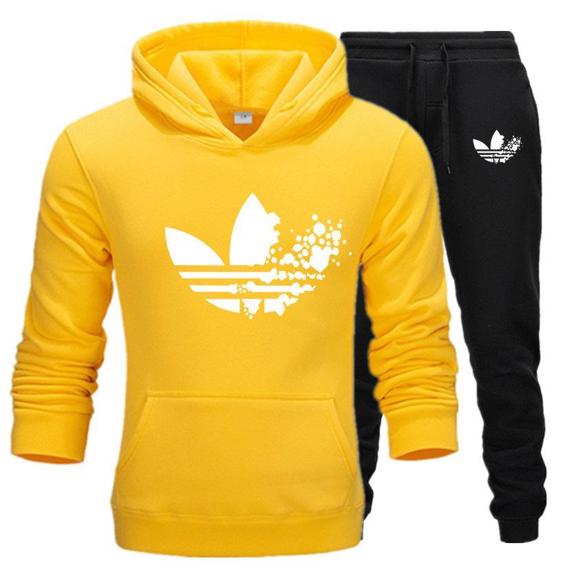 2019 neue Art und Weise Sport warmer Anzug Jogging für Männer Sport Drucke Hoodies Pullover Trainingsanzug Sweatshirts Bekleidungsset
