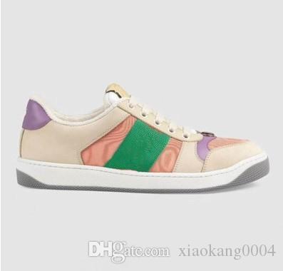 2019Newest ÇIÇEKLER TEKNIK KANATLAR YÜKSEK ÜST SNEAKERS PVC Malzemeler ile Bayan Ünlü Tasarımcı Ayakkabı en İyi Kalite Lace Up Sneakers ss01