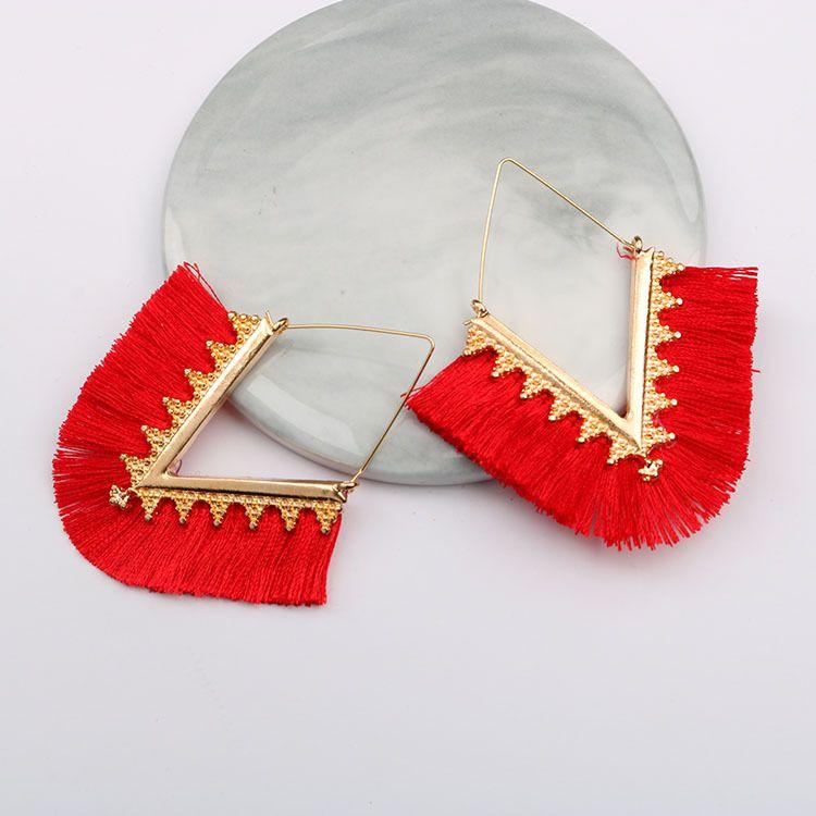 2019 charme Quaste Ohrringe für Frauen Dame Aussage Handgemachte Fransen Baumeln Ohrringe Beste Geschenk für Mama Schwester Freund Hochzeit Schmuck M009F