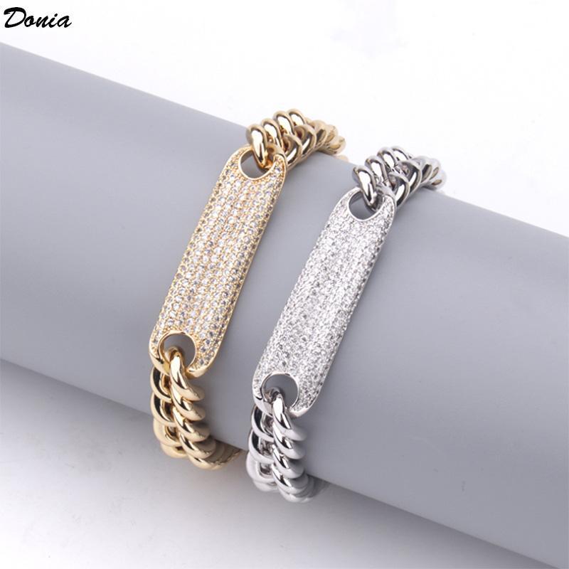 Dona gioielli europea e americana catena hip hop con gioielli zirconving di gioielli banchetti set di banchetti regalo decorazione