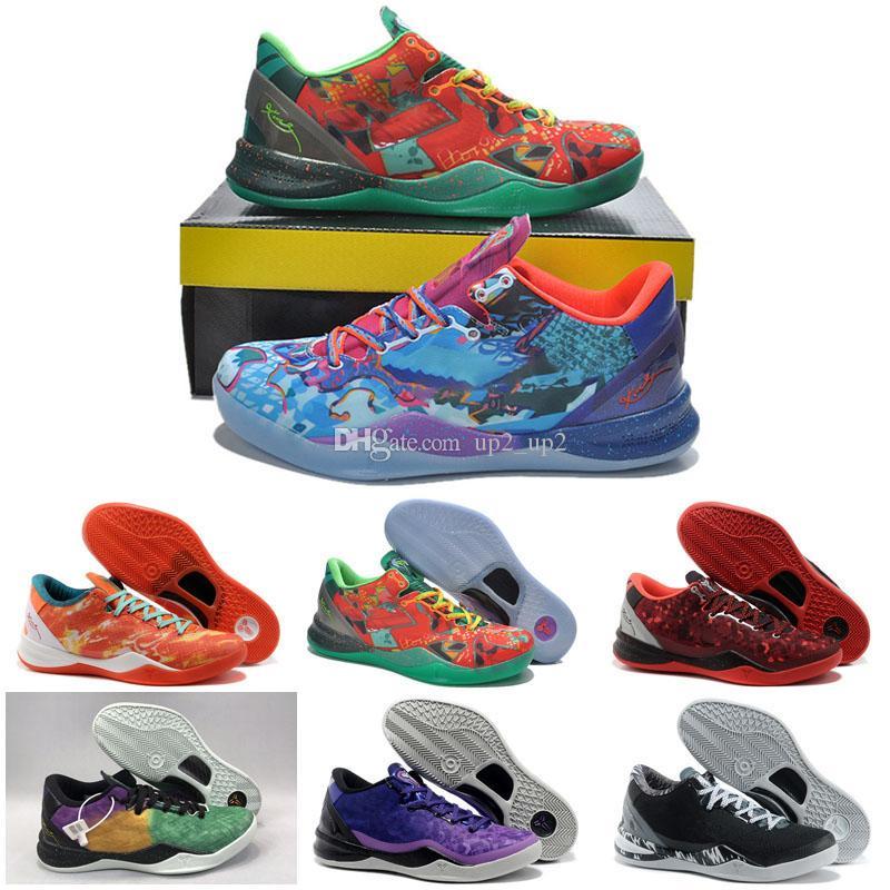 Yılan Noel Satışı Sneakers Mamba Ayakkabı WTK Prelude Yansıma Yıl Men 8 Basketbol Ayakkabıları