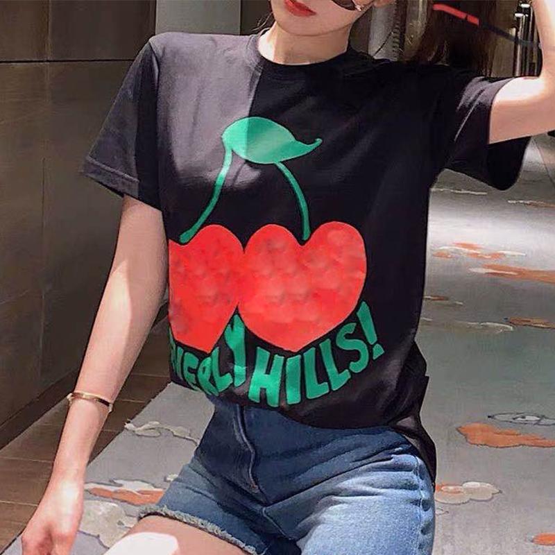 Sexiness Männer kurze Ärmel Mann Frauen Punk Hip-Hop-Druckbuchstaben T-Shirt Modekleidung Sommer Skateboard Beverly Hills Oberseiten-beiläufige T S-2XL