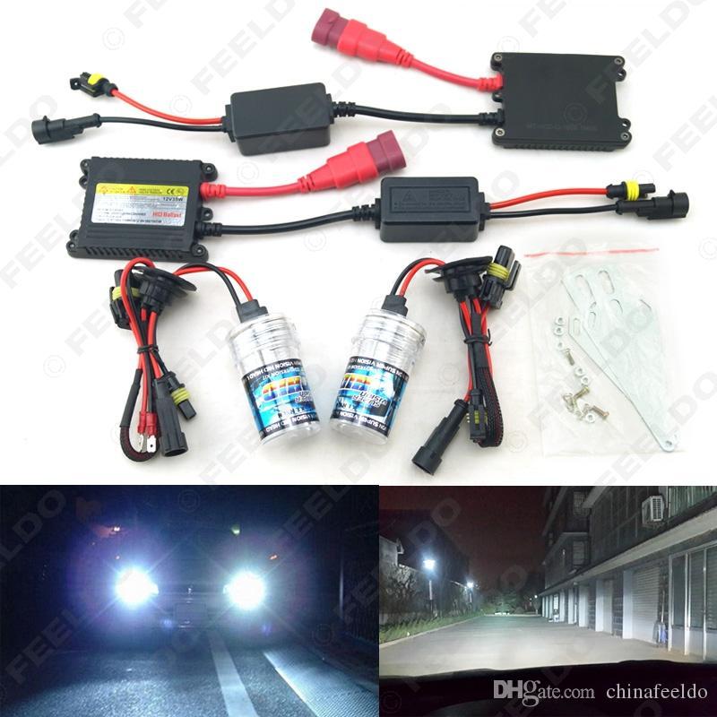 Xenon HID Kit H1/H3/H7/H8/H10/H11/9005/9006 DC 12V 35W Xenon Bulb Lamp Digital Ballast Car Headlight #4470