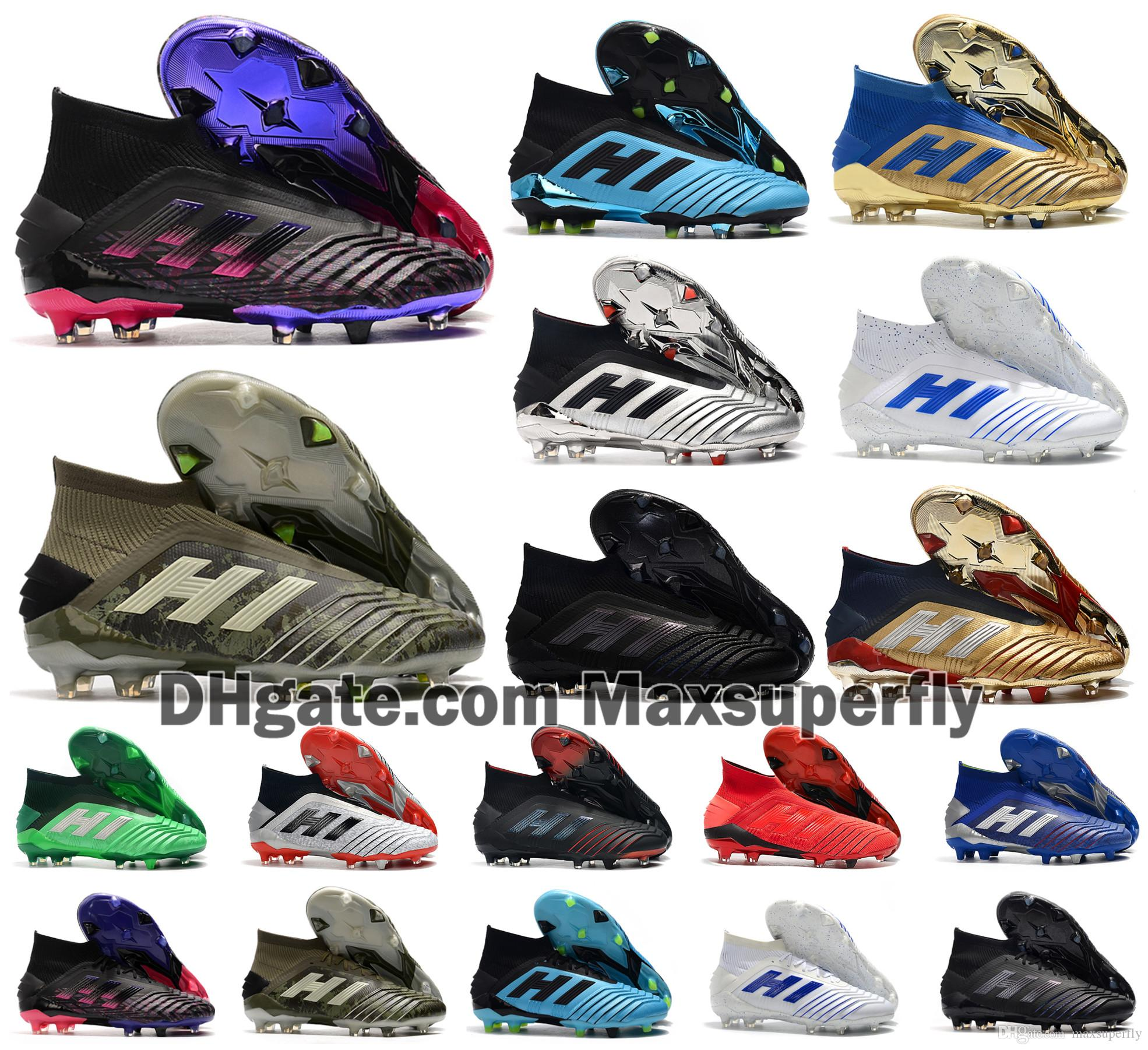 2020 Hot Predator 19+ 19.1 FG PP Paul Pogba Season 6 6th Encryption Code Mens Boys Soccer Football Shoes 19+x Cleats Boots Cheap Size 39-45