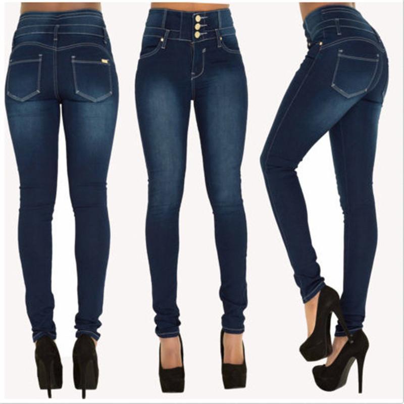 Womens Jeans empujan hacia arriba más el tamaño de la cintura, Jean Pantalones vaqueros para mujer hembra jeans para mujeres Jeans Mujer caliente