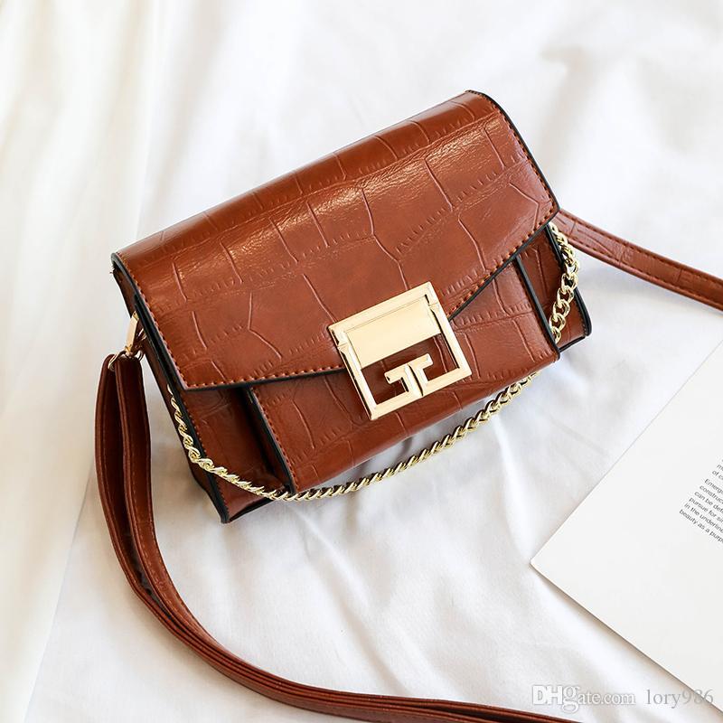 2019 venta caliente del Rhinestone Mujeres llave de hombro Bolsas bolsos de diseño para las mujeres señoras de bolsos del mensajero Bolso femenino bolsa Meidawanggong / 7