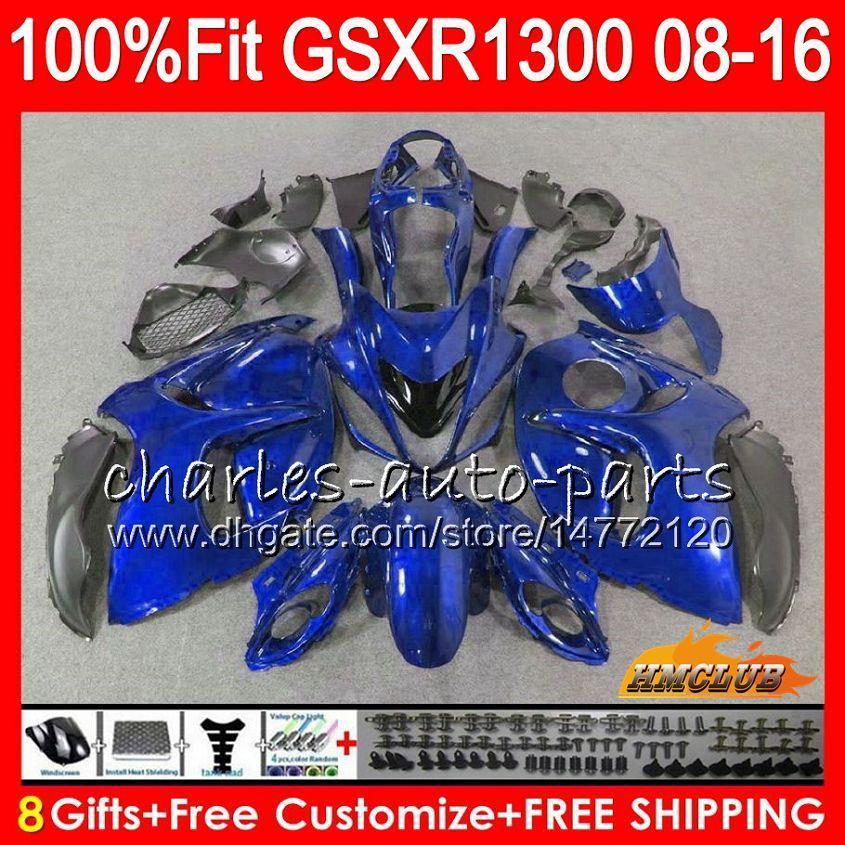 Inyección para SUZUKI Hayabusa GSXR1300 08 2008 2018 GSXR 1300 25NO.58 GSXR-1300 08 09 10 all blue hot 11 12 13 14 15 16 17 18 Carenados OEM