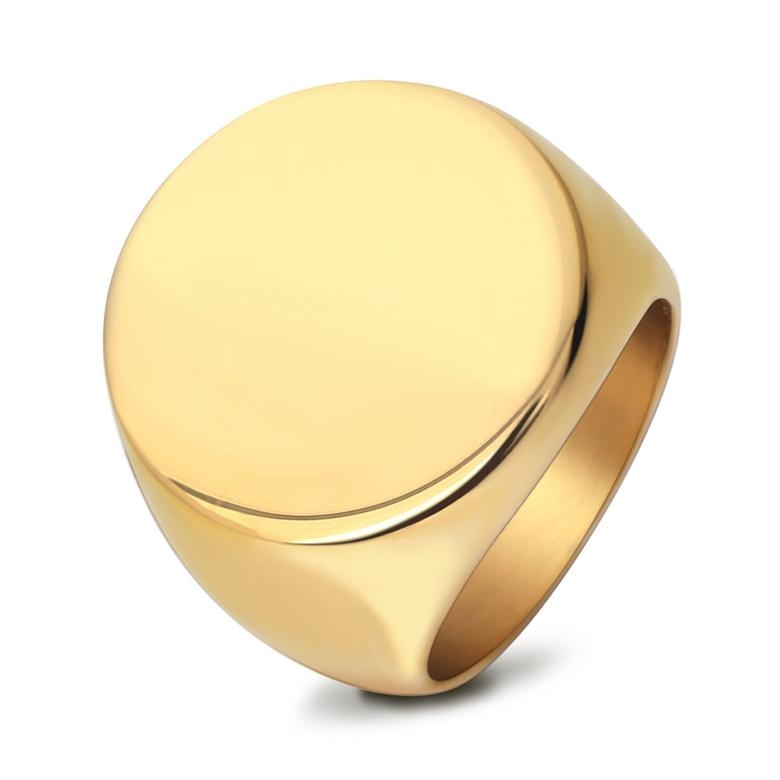 Stainless Steel Rings Jewelry European and American Style High Polished Gold Plated Circle Titanium Steel Cluster Rings Wholesale LR059