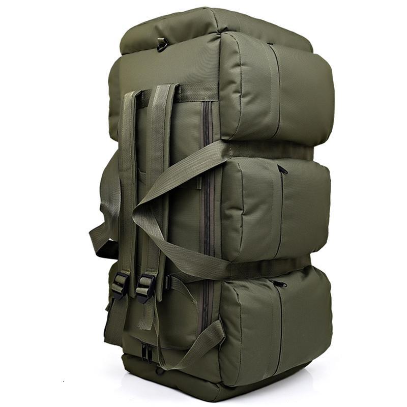 90L Large Capacity Men's Military Tactics Backpack Multifunction Waterproof Oxford Hike Camp Backpacks Wear-resisting Travel BagMX190903