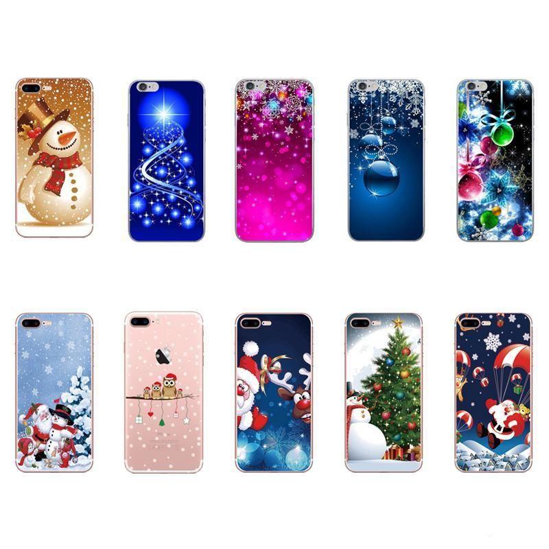 Presente de Natal macio TPU silicone capa para iphone XS MAX XR X 8 7 Plus 6 6S SE 5 5S chapéu de Papai Noel árvore da neve do boneco de neve Coruja Gel tampa do telefone