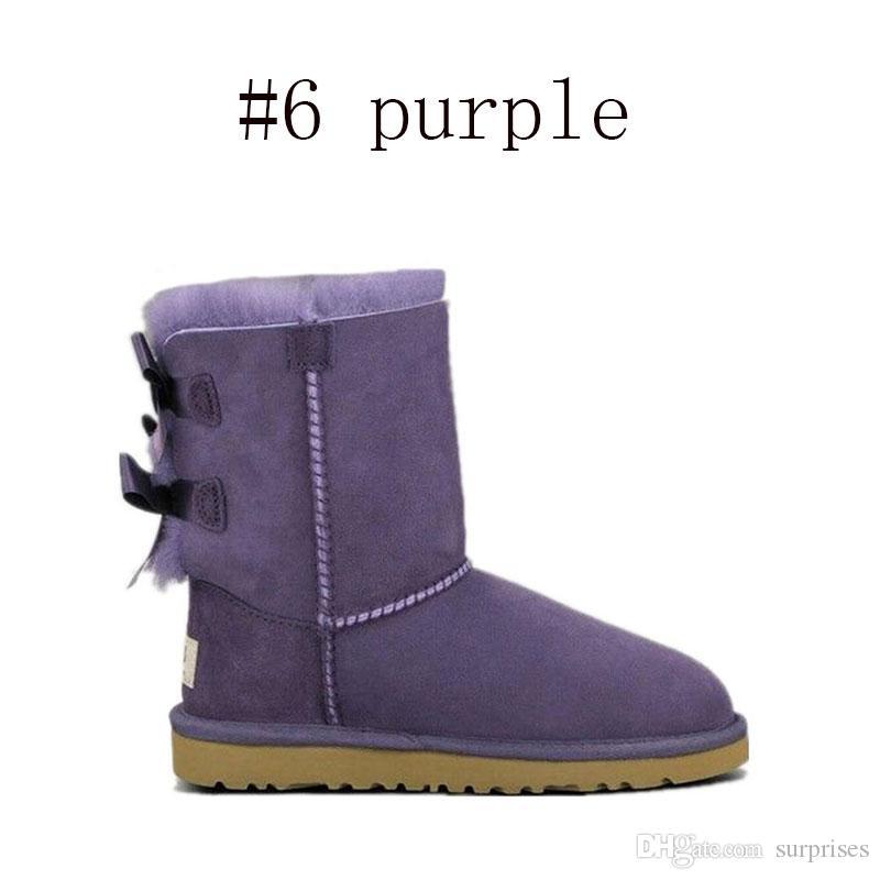 Acheter Boots Australie Classique Neige Bottes De Mode WGG Hautes Bottes En Cuir Véritable Bailey Bowknot Femmes Garder Au ChaudUGG Boots De $56.29 Du