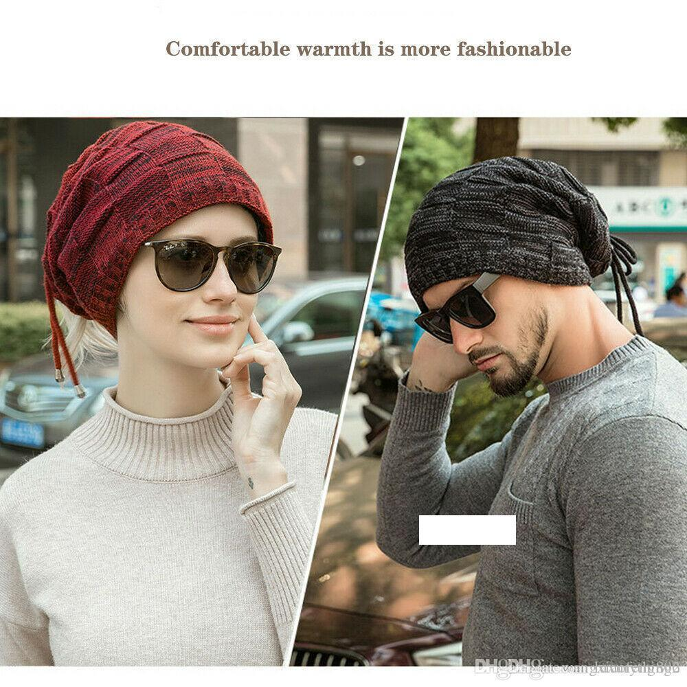 New Trendy Mens Ladies Knitted Woolly Winter Oversized Slouch Beanie Hat Cap Unisex one pieces