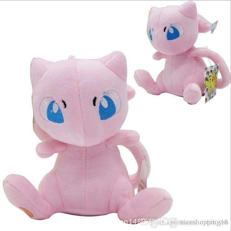 Regalos Mew Pink Cat Peluche Juguete Peluche Animal Figura Muñeca para niños juguetes