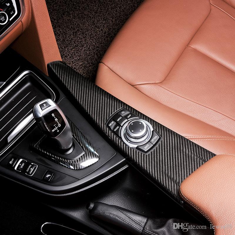 Cubierta de la caja de la caja de cambio de engranaje interior de la fibra de carbono Recorte interior de la decoración de la decoración de la decoración para BMW 3 4 Serie 3GT F30 F31 F32 F34 F36 2013-19
