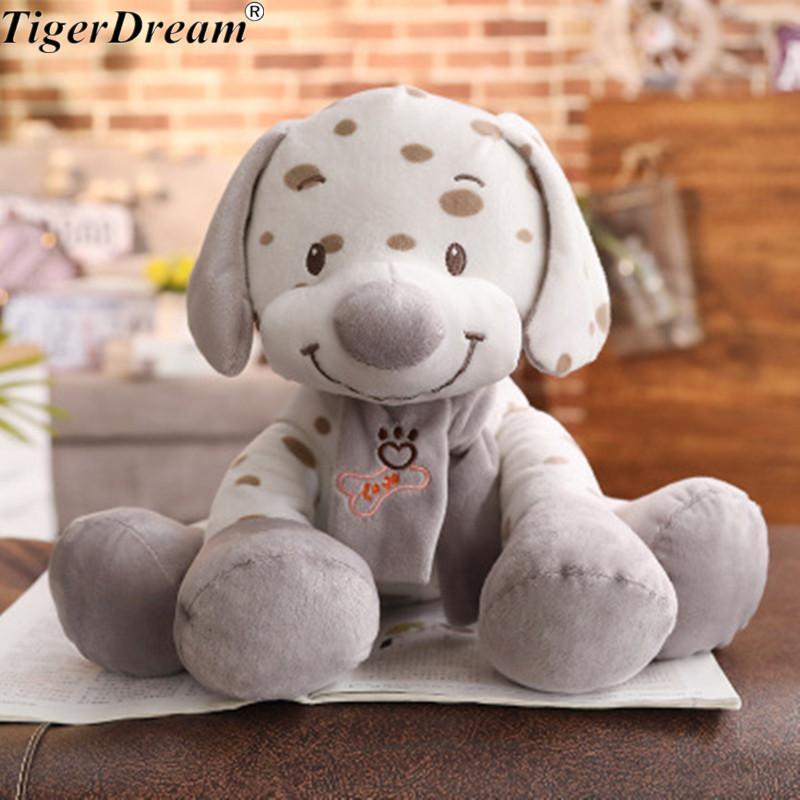 One Piece Kawaii Spot Dog Toy Sleeping Pillow PP Cotton Stufed Plush Cushions Children Birthday Present Creative Dolls 2 Size