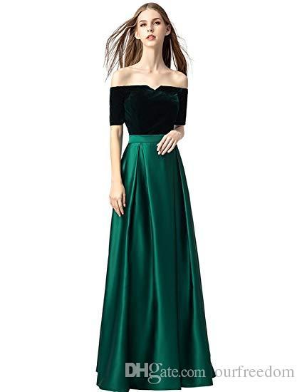 Robes de bal 2019 longues avec manches Satin Robes de soirée formelles avec poches pour femmes Robes de soirée informelles Real Image
