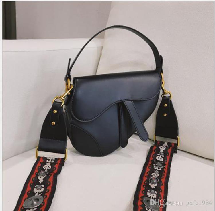DHG bolsa de ombro Europeu das Mulheres e moda americana de cor sólida pu multi-função saco Mensageiro bolsa de ombro sela