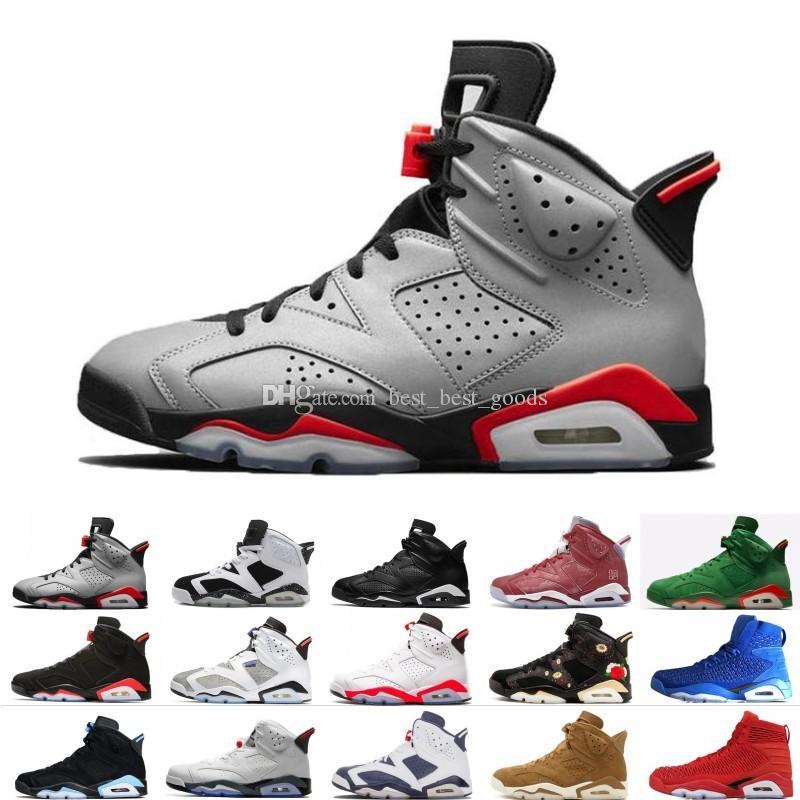 2019 Bred VI 6 6s Mens Basketball Shoes Infrared 23 3M Reflective Bugs Bunny Tinker Black Cat Men Sport Sneakers Designer Trainers Eur 40-47