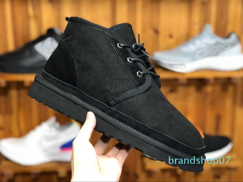 (WITH BOX) Top MEN BOOTS NEUMEL SUEDE Winter boots wool shoe mens classic boots Newm series straps casual warm mini boot SIZE 40-45 TI8