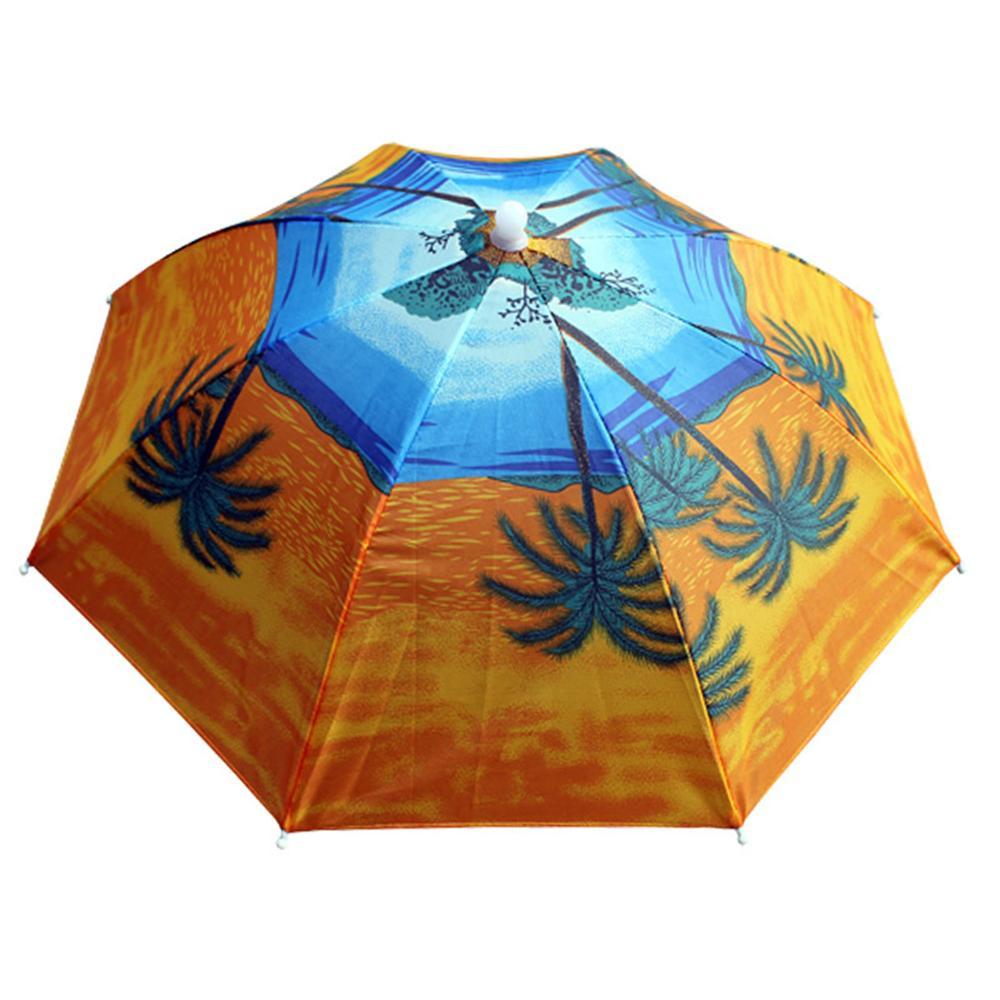 Pesca Cap exterior Desporto Umbrella Hat Caminhadas Camping Headwear Cap Cabeça Chapéus Camuflagem dobrável protetor solar Sombra Hat Umbrella