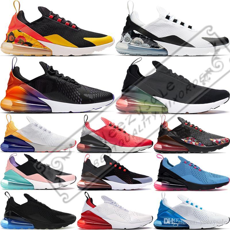 Rainbow mujeres de los hombres de los zapatos corrientes 270og Negro degradado apenas Universidad Rose Red Tiger Cactus Mens transpirable zapatillas de deporte 36-45 Formadores