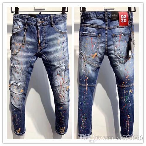 2020 nueva marca de jeans de moda de los hombres europeos y americanos ocasionales, lavado de alto grado, la molienda pura mano, la optimización de la calidad LA352