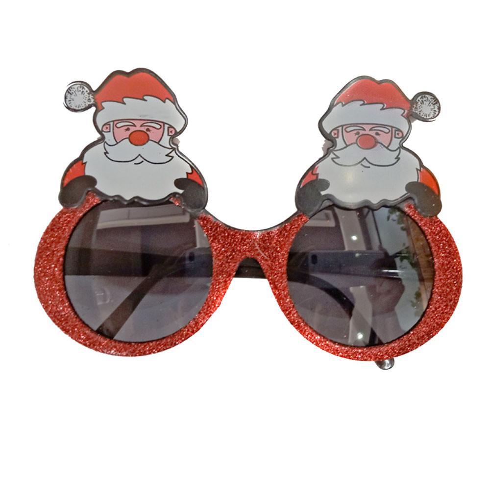 Cool Santa Reindeer Snowman Shades Christmas Adult T Shirt