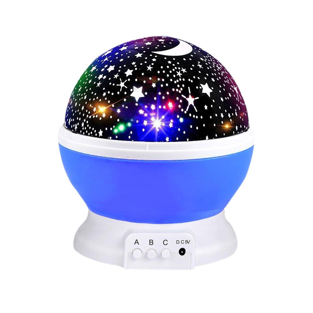 RGB LED 회전 프로젝터 별이 빛나는 하늘 밤 램프 로맨틱 프로젝션 라이트 문 스카이 로맨틱 나이트 라이트 노벨