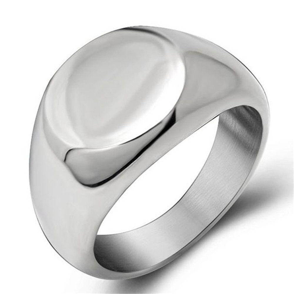 Anillos de la roca del acero inoxidable 316l de los hombres Enfriar en anillo de sello de moda para joyería Aniversario partido de las mujeres de los hombres de regalos SA425