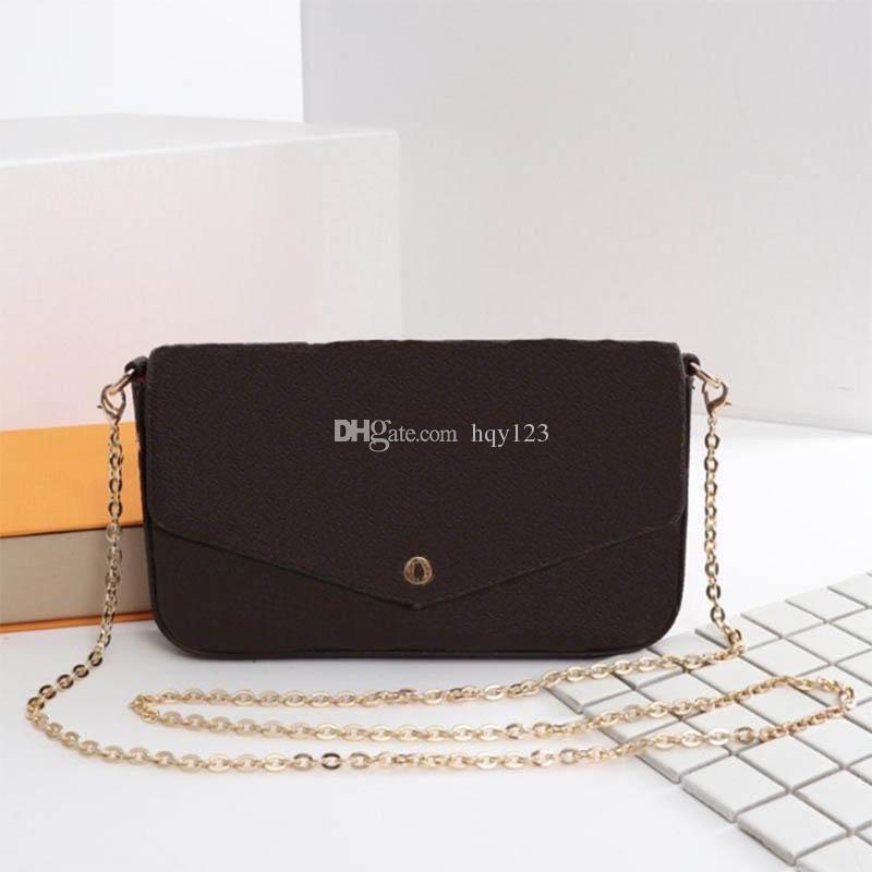 أحدث حقائب امرأة موضة حقائب النساء الكتف عالية الجودة أكياس سلسلة الحجم 21/11/2 سم نموذج 61276