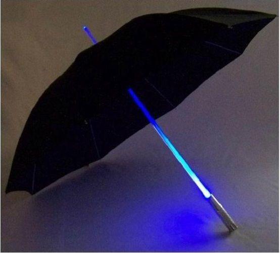 تصميم جديد LED الإضاءة مظلة المصباح صامد للريح المظلات مشمس وممطر المظلات 4 ألوان ليلة حماية المظلات دي إتش إل الحرة