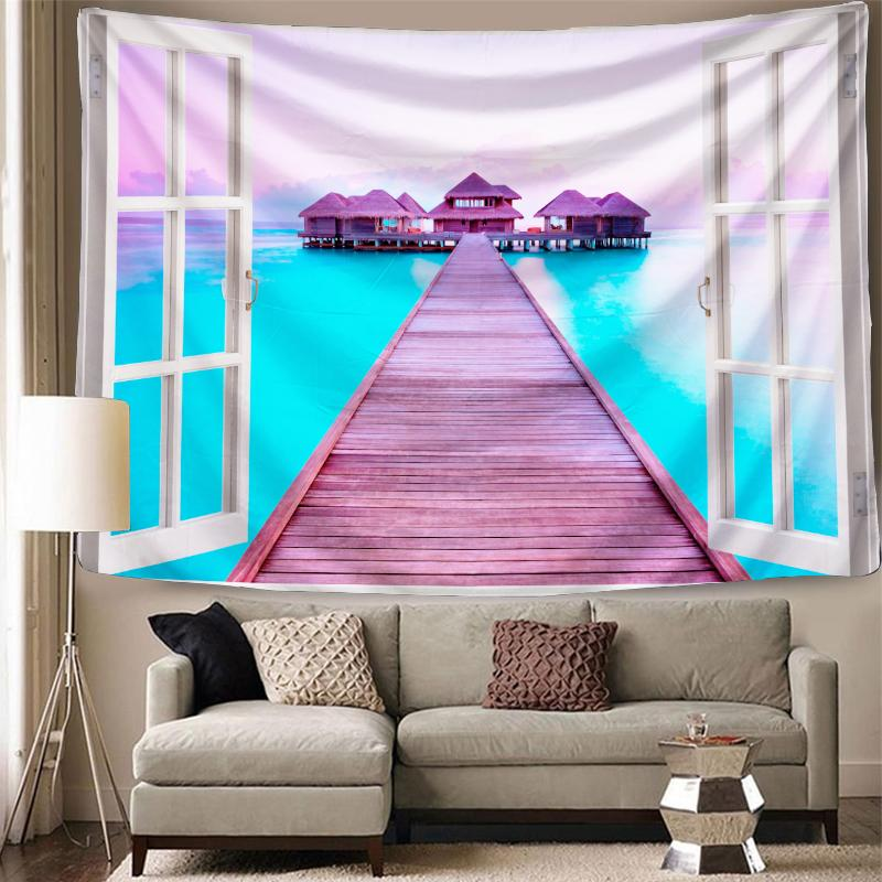 """59.1"""" x 78.7 inch Maldives Tapestry Background Yoga Mat Home Cloth Beach Towel Living Room Decoration Wall decoration"""