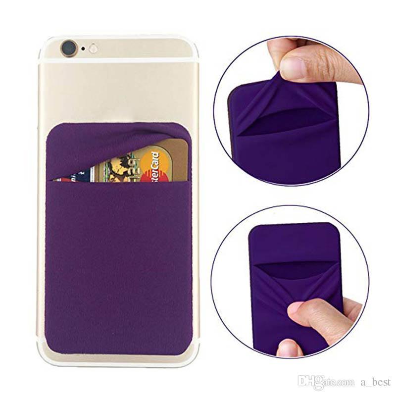 3M Telefon Geld-Beutel-Taschen-Aufkleber Weiche Socken-Mappen-Kreditkarte Bargeld-Halter-Organisator StandAdhesive rückseitige Abdeckung für iphone 11 Pro Max XS