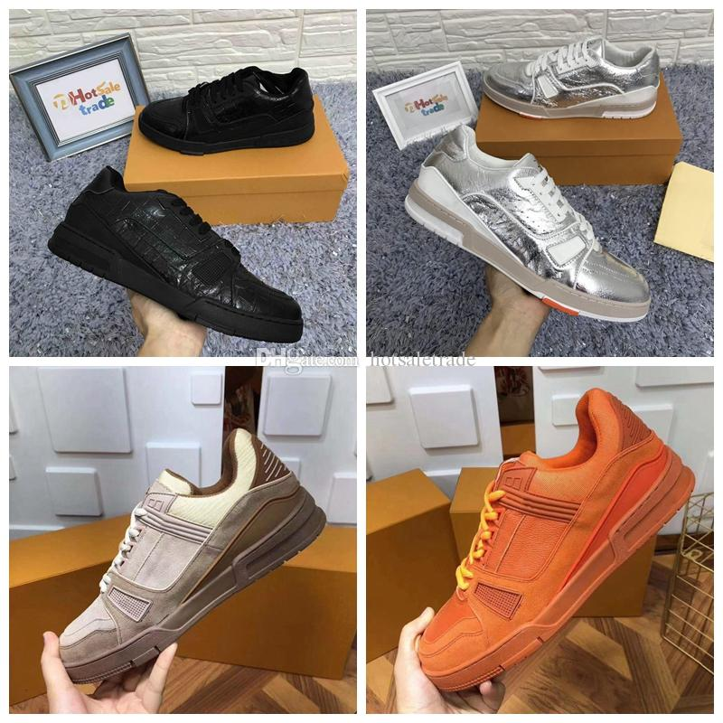 트레이너 플랫폼 신발 꽃 디자인 진짜 가죽 CHAUSSURES 블랙 캐주얼 스니커즈 2020 새로운