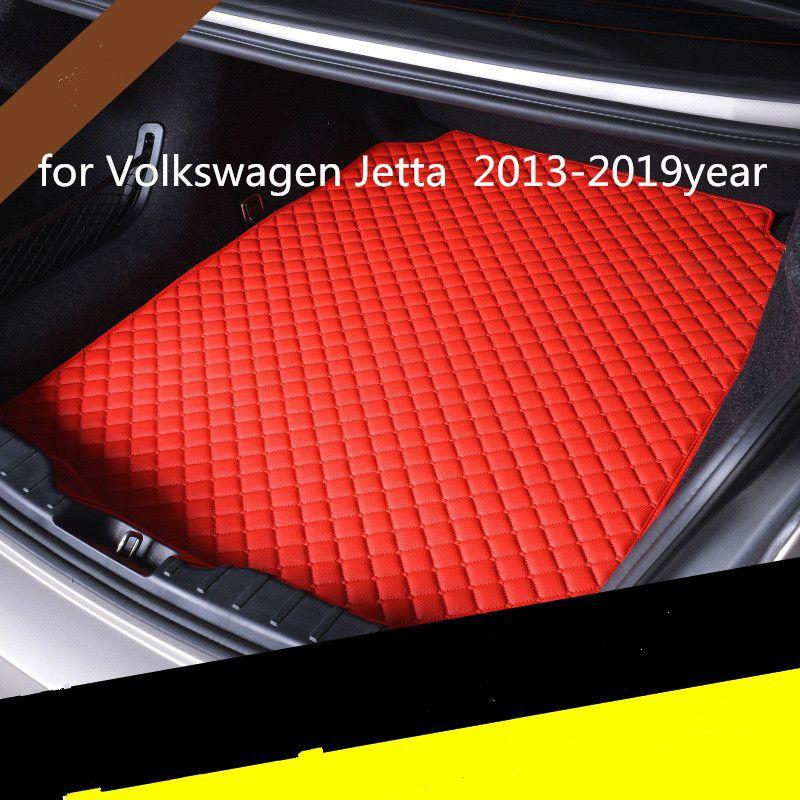 Пользовательские противоскольжения кожи автомобиль коврик багажного отделение коврик подходит для Volkswagen Jetta 2013-2019year автомобиля противоскольжения коврика