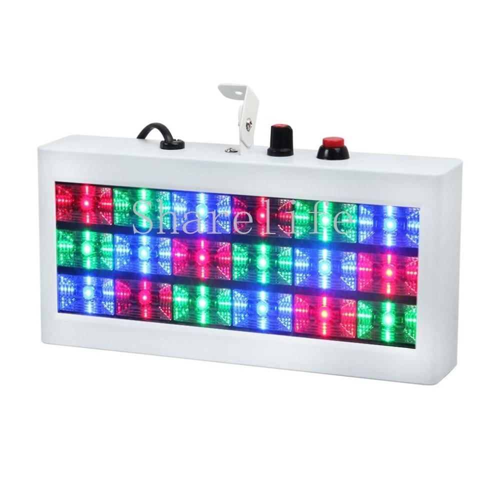 Sharelife 미니 18 RGB 컬러 LED 사운드 스트로브 라이트 플래시 라이트 스트로보 스코프 클럽 파티 DJ 무대 조명 효과 디스코