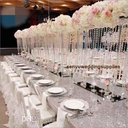 New style Hot Selling clear Tall acrylic Flower Arches Bridge Arch For Table Centerpieces Wedding Decoration senyu0473