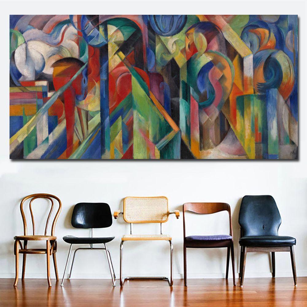 Parete Colorata Camera Da Letto acquista 1 pannello pittura astratta colorato tela immagini a parete  soggiorno ufficio camera da letto moderna tela pittura a olio senza cornice  a