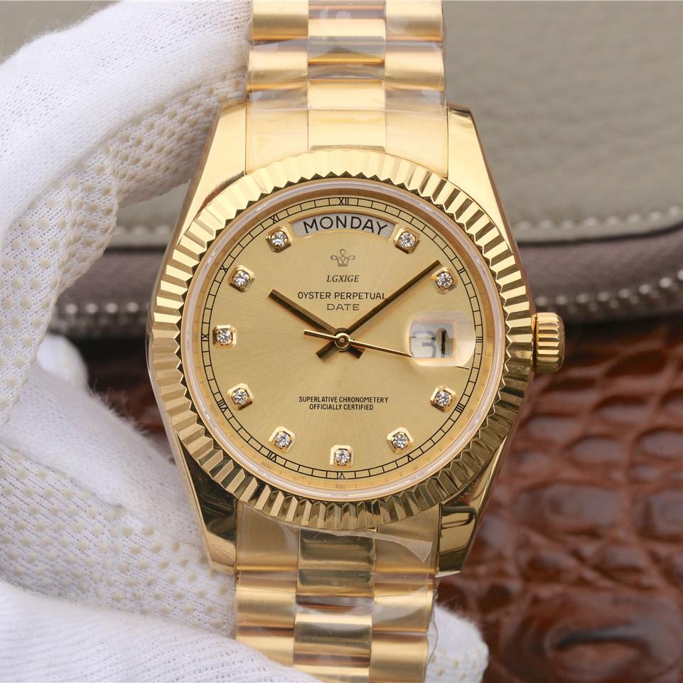 Горячие модные часы мужские наручные бизнес ретро часы мужские водонепроницаемые золотые цельностальные стальные часы для даты даты Montre Homme newWatch